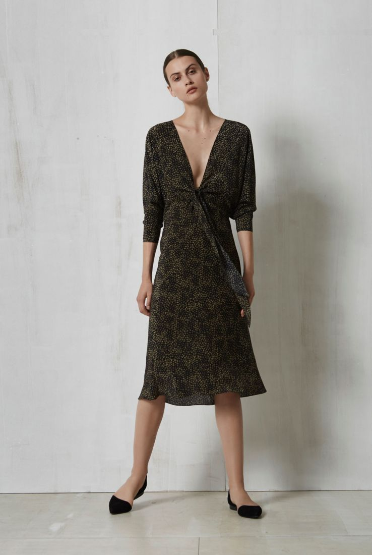 Flash, short silk wrap dress, Dresses collection – Cortana Moda