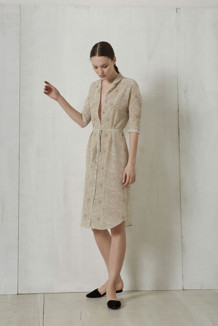Jira, silk printed dress, Dresses collection – Cortana Moda