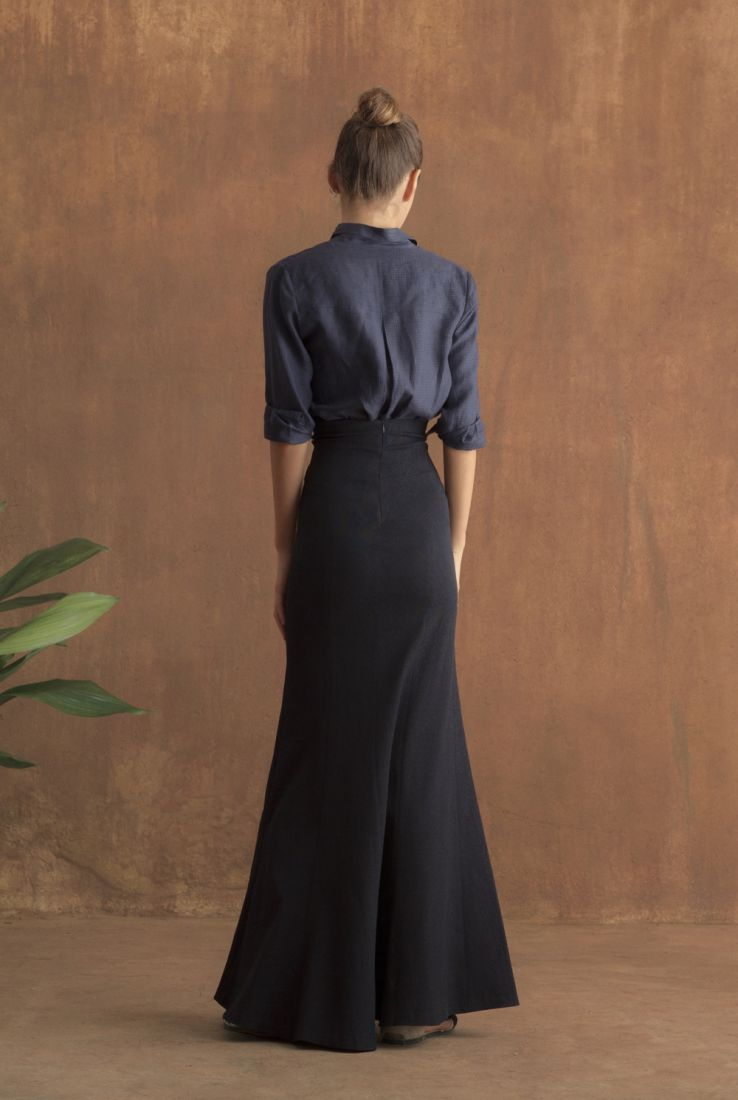 Tomás top with Grain skirt