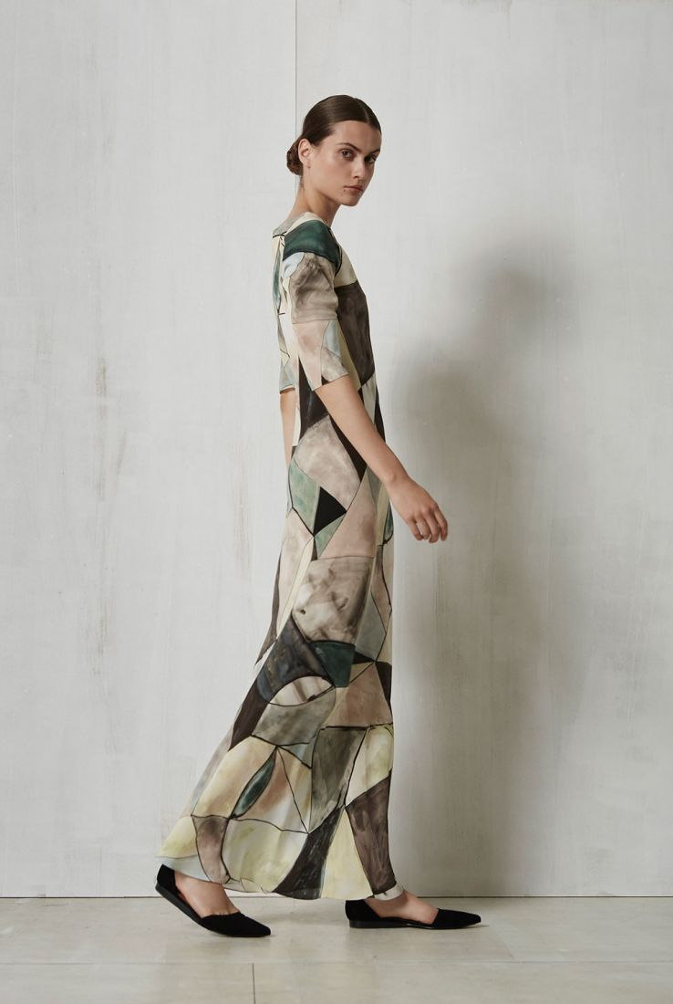 Pablo, printed silk dress, Dresses collection – Cortana Moda