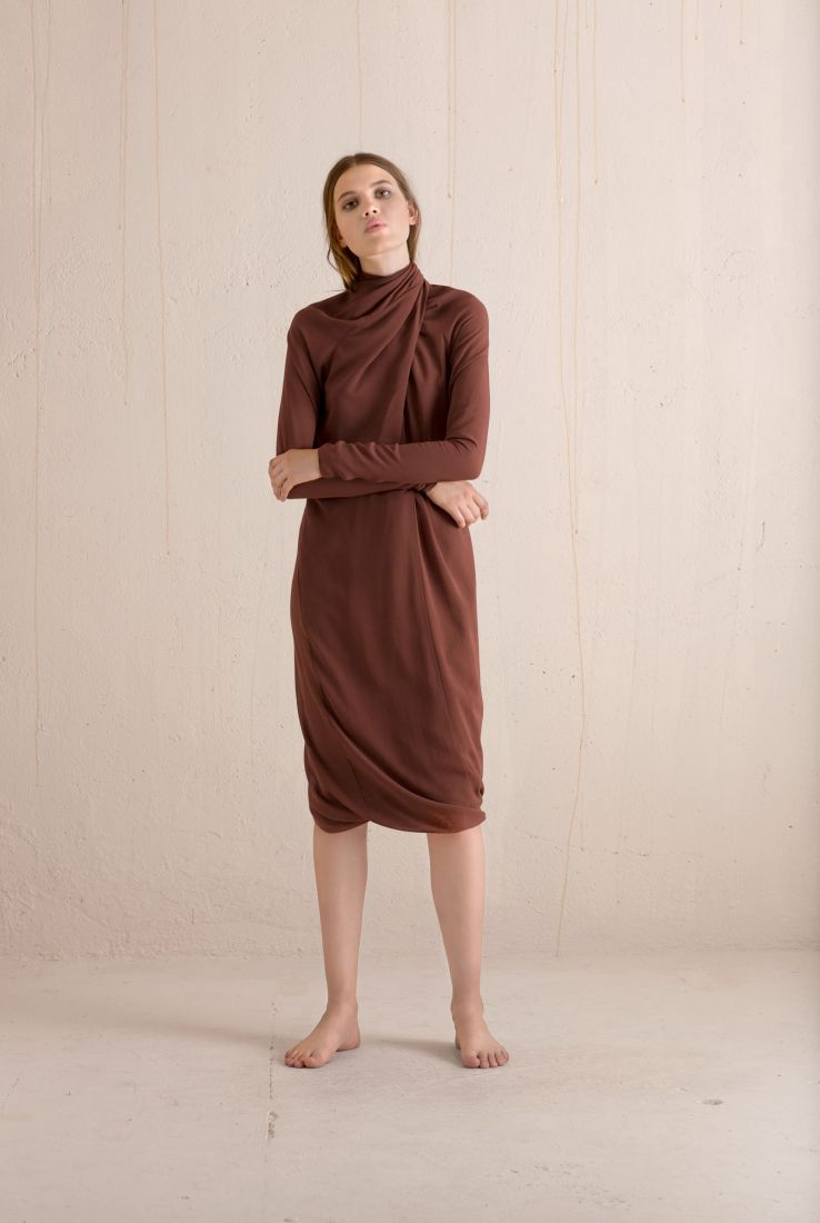 Carola silk dress