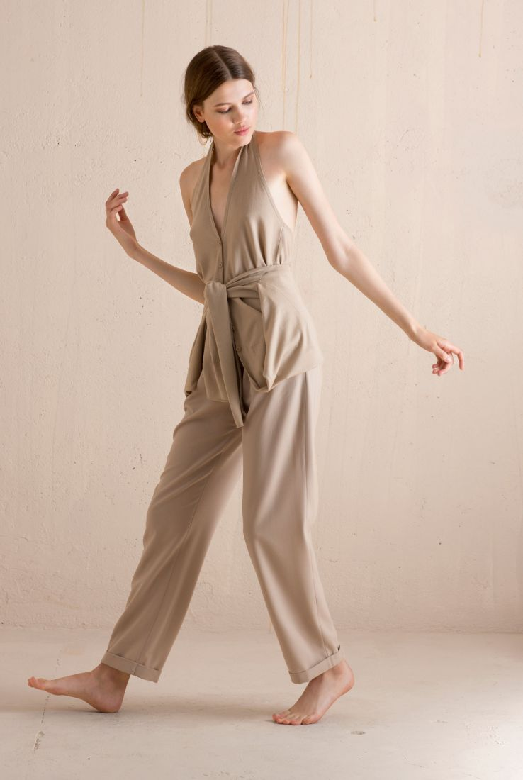 Transformable cardigan with Kasbah pants