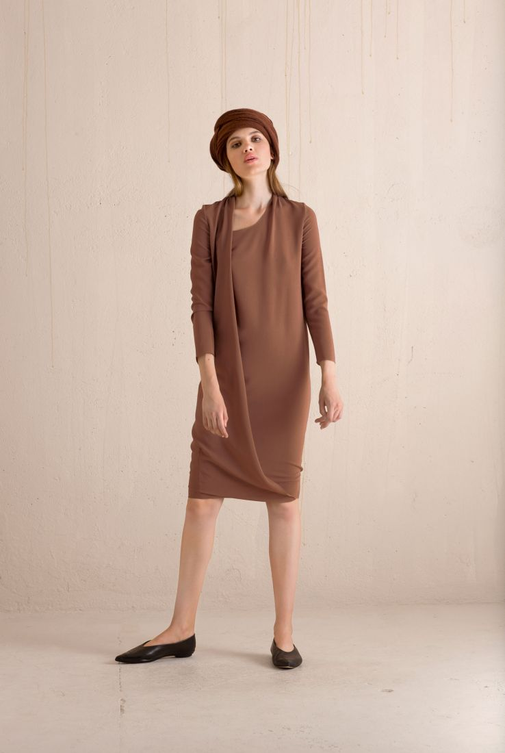 Vest brown dress