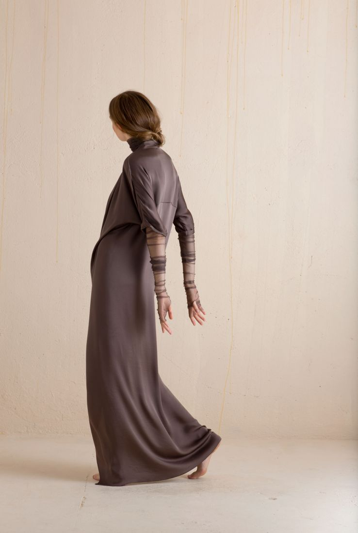 Mali, long silk dress, Dresses collection – Cortana Moda