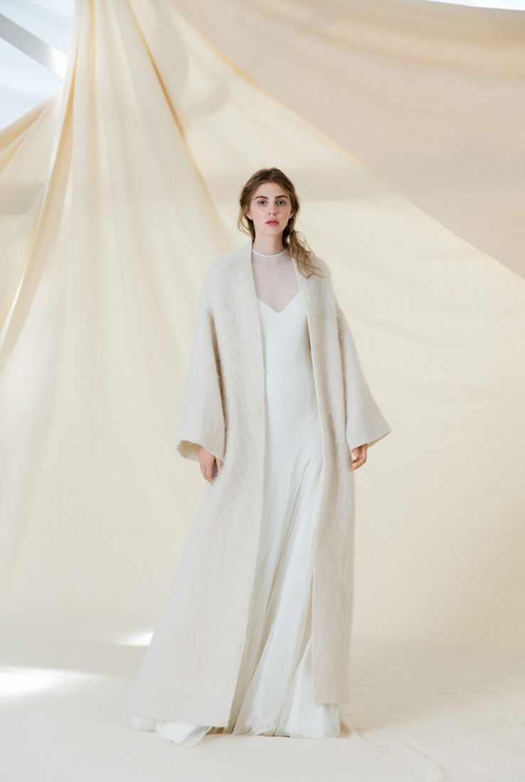 Long white Mohair coat