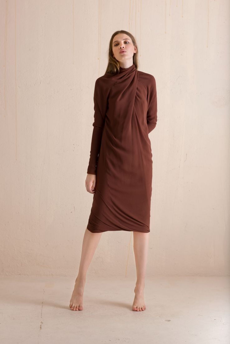 Carola, draped dress, Dresses collection – Cortana Moda