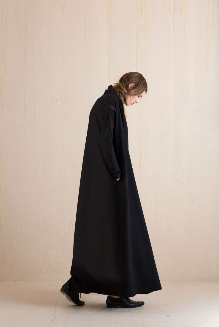 Osa, long wool coat in black, Jackets collection – Cortana Moda