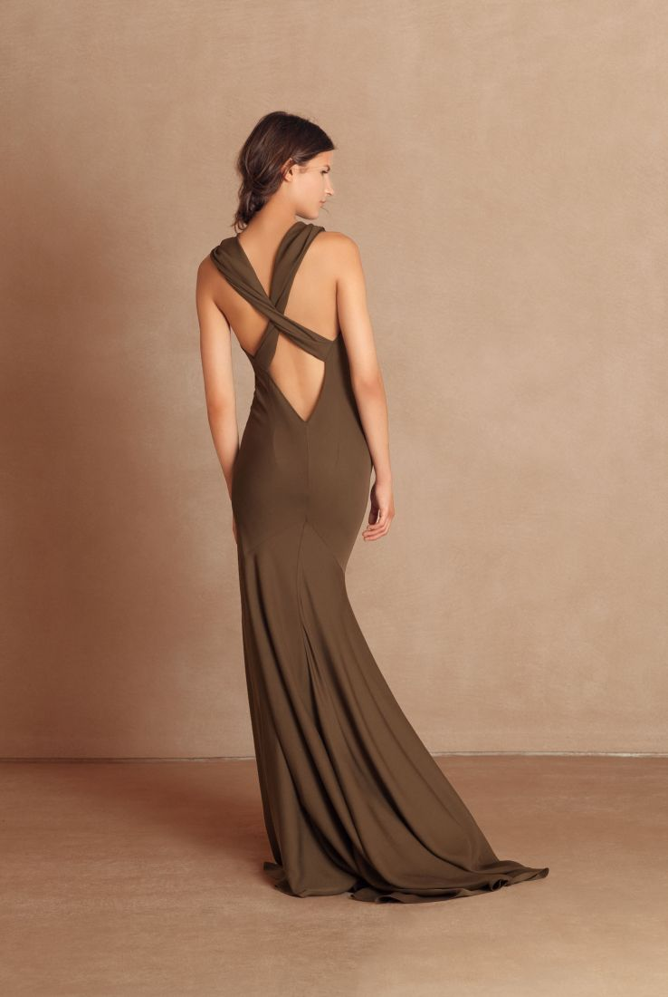 Espia, long silk evening dress