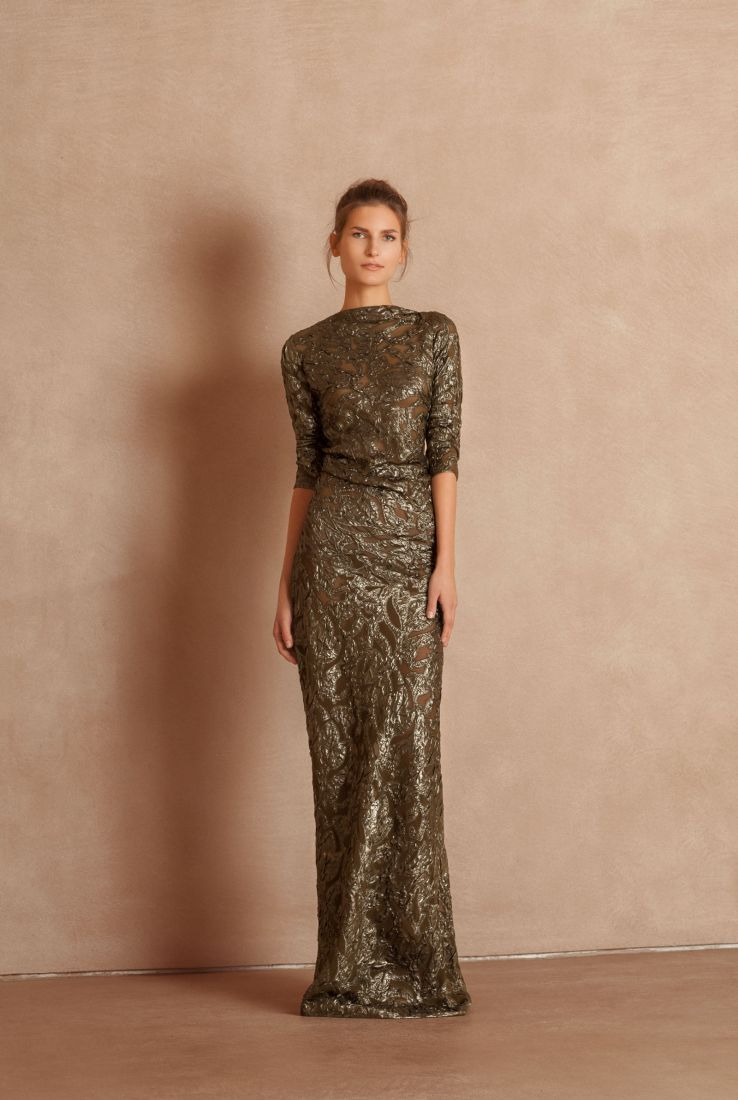 Jungle, long party dress
