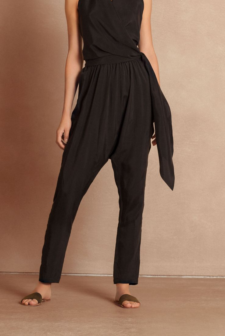 Ave black cupro pants