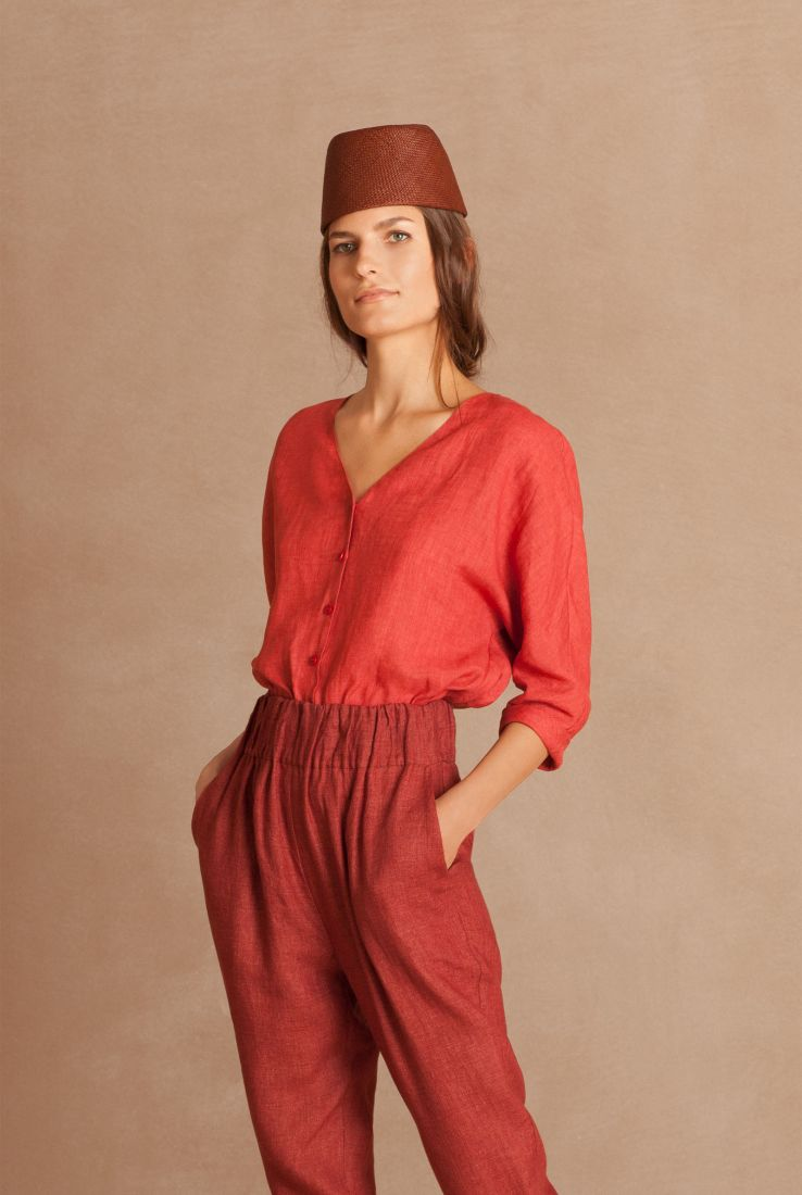 Fresa linen top with Ball pants