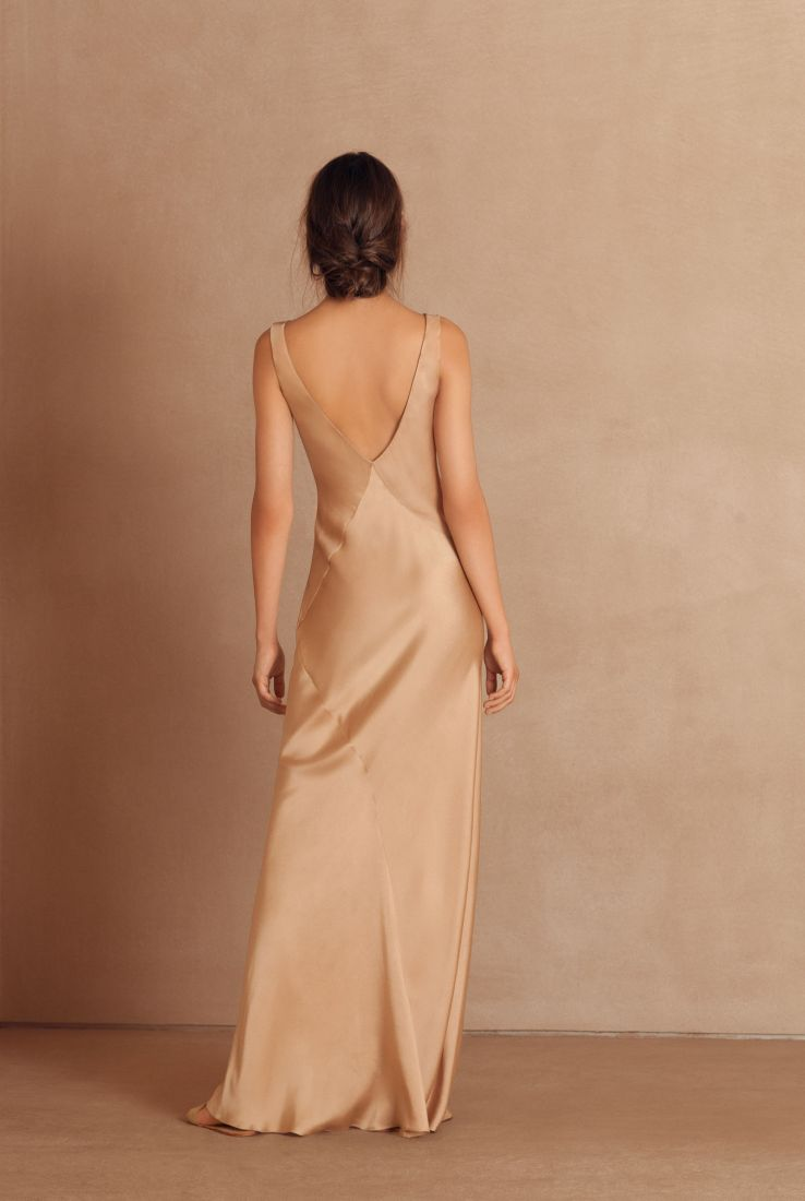Donna, long silk evening dress, Dresses collection – Cortana Moda