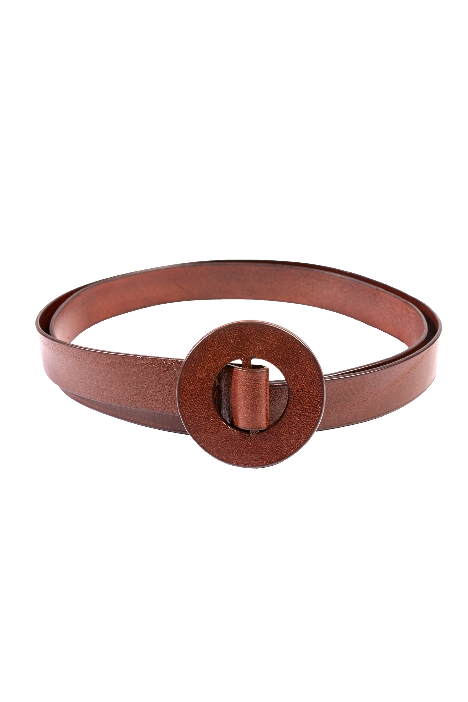 Aro, slim belt in maroon leather - Cortana