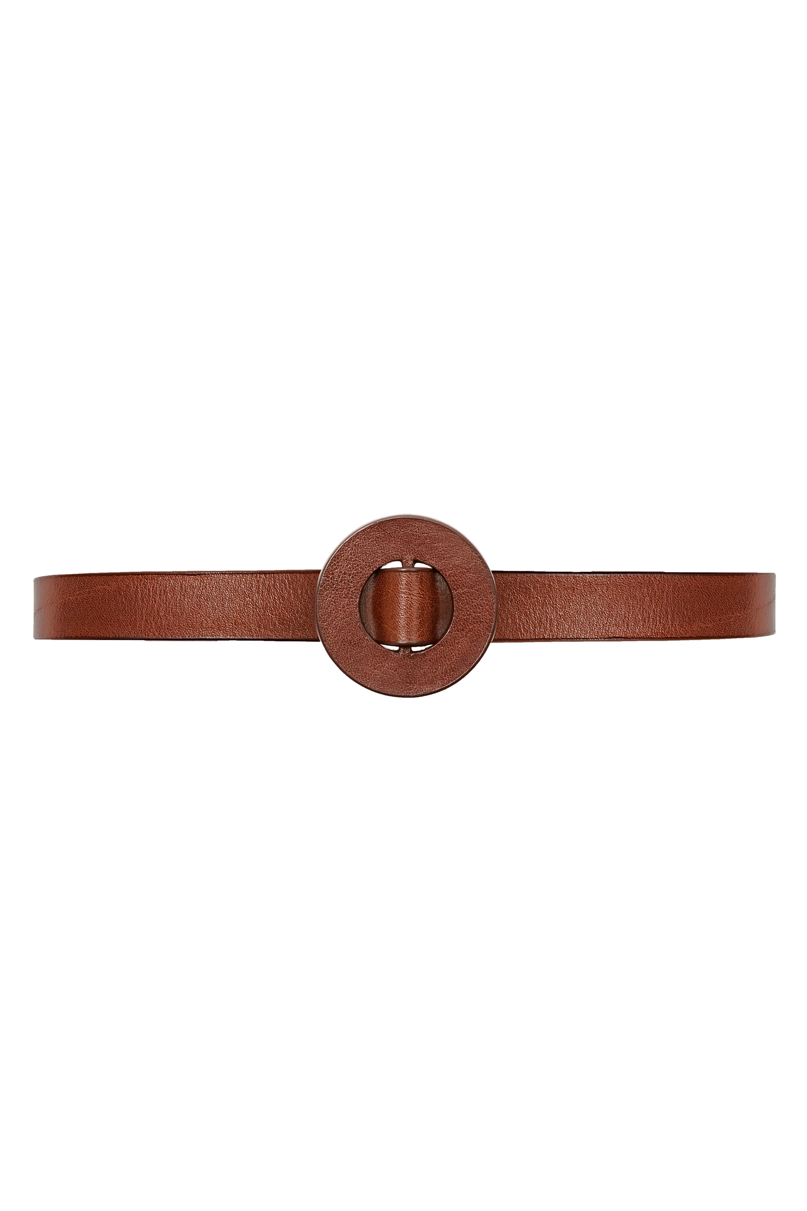 Aro, slim belt in maroon leather - Cortana Moda