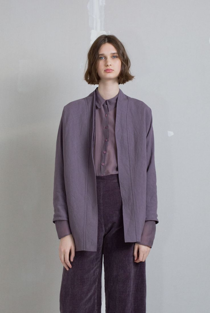 Lavender reversible jacket, AW18 collection – Cortana Moda