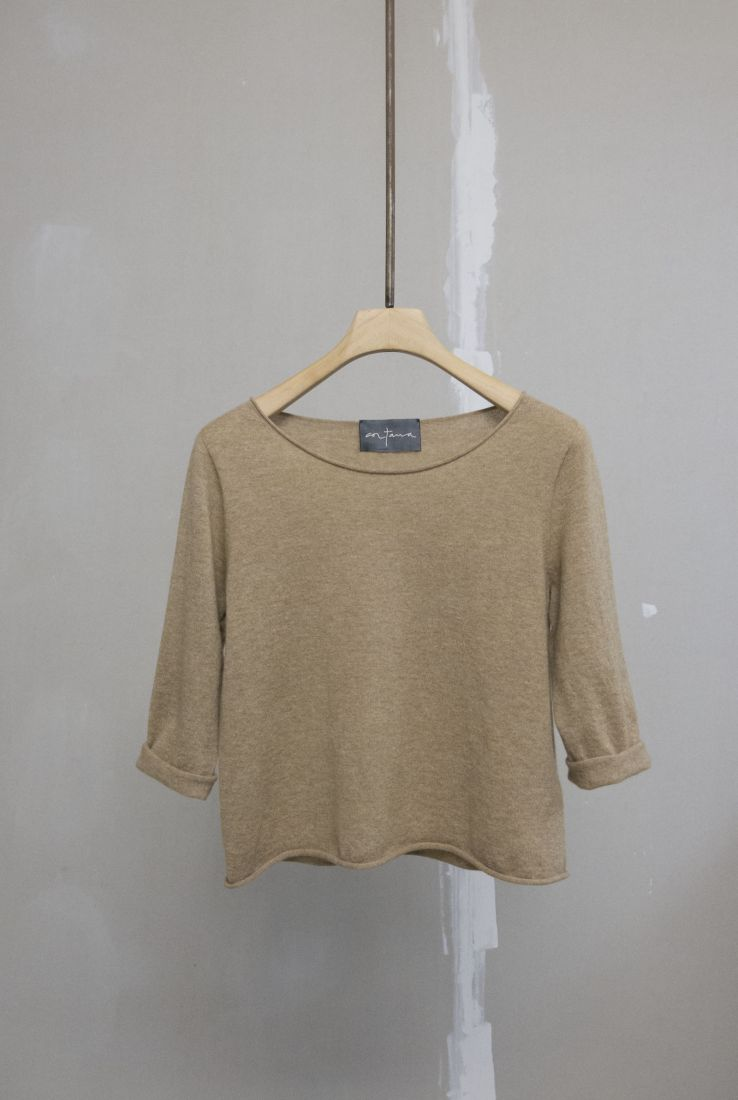 Brown sweater in cashmere