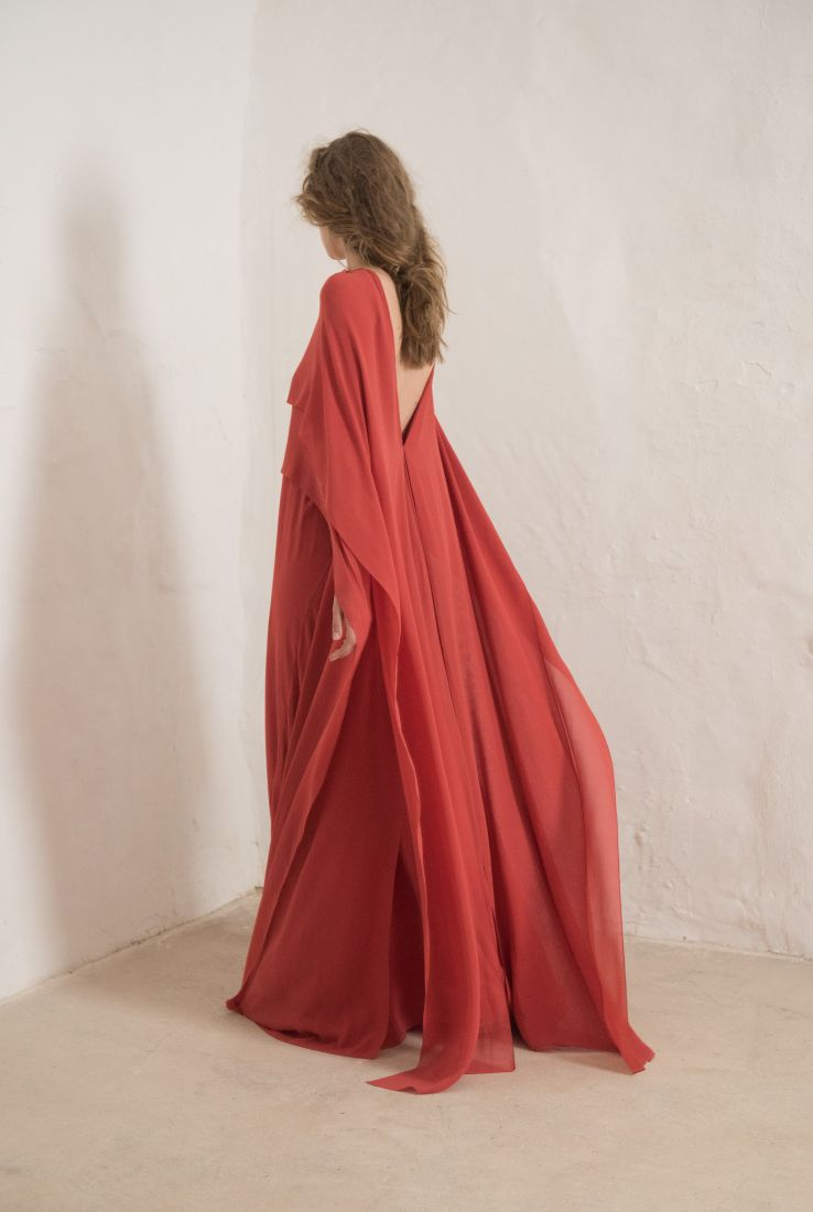 ALYSA STRAWBERRY EVENING DRESS, SS19 collection – Cortana Moda