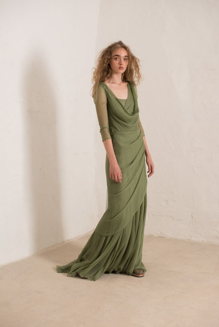 ANDREA LONG WRAP DRESS, SS19 collection – Cortana Moda