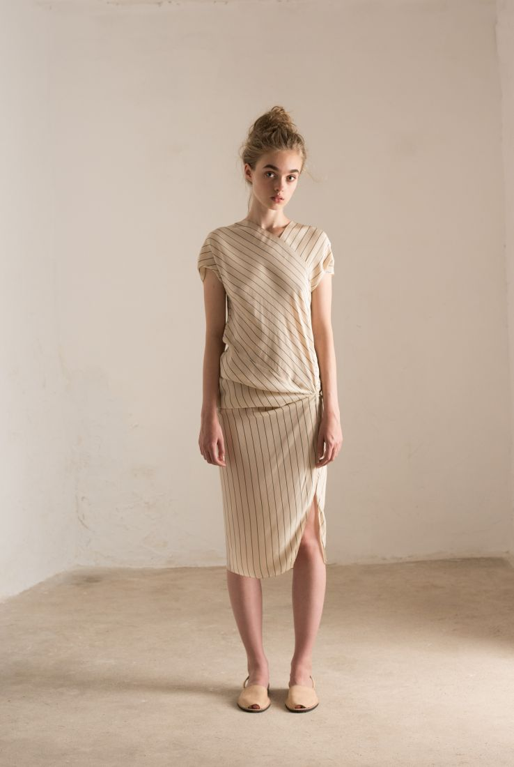 Corsica, short striped dress