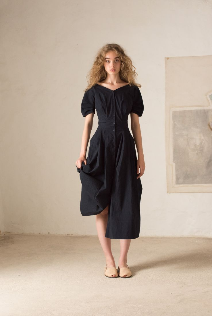 Hydra midi shirt dress