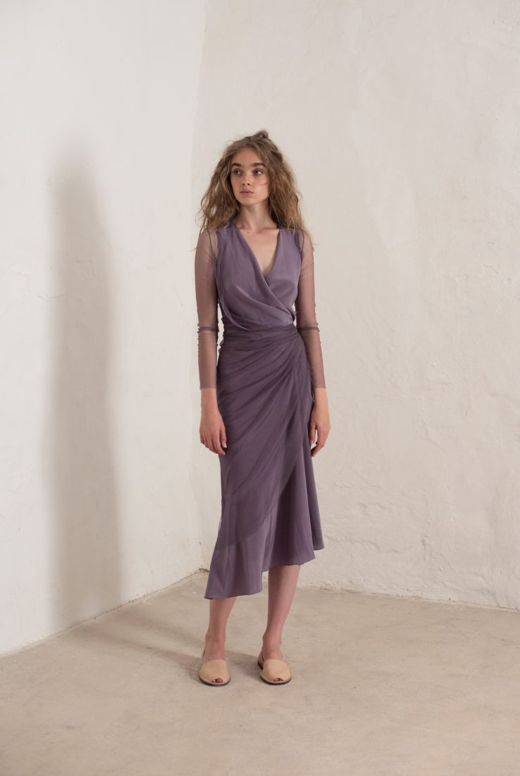 Luxor midi dress in silk