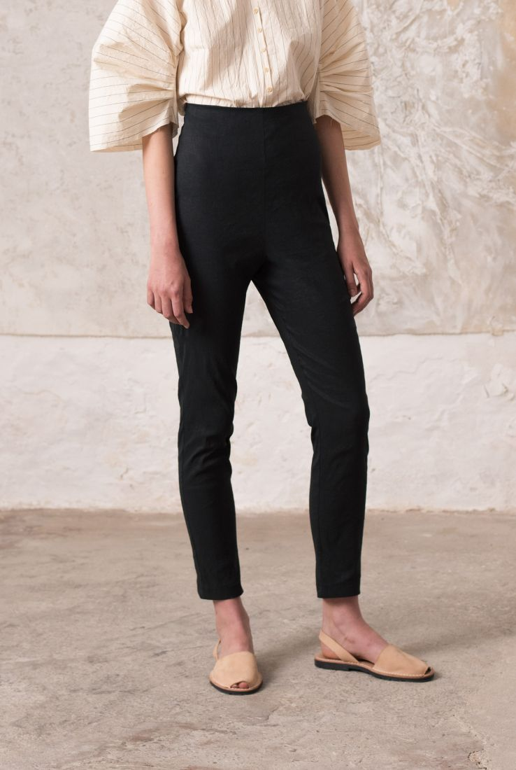 Manolo pants in stretch linen