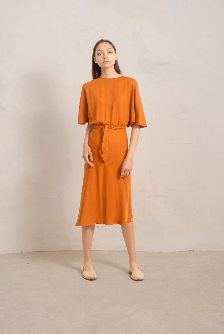 MORA SILK WRAP DRESS, SS19 collection – Cortana Moda