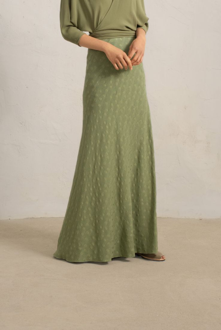 Rosario green long skirt