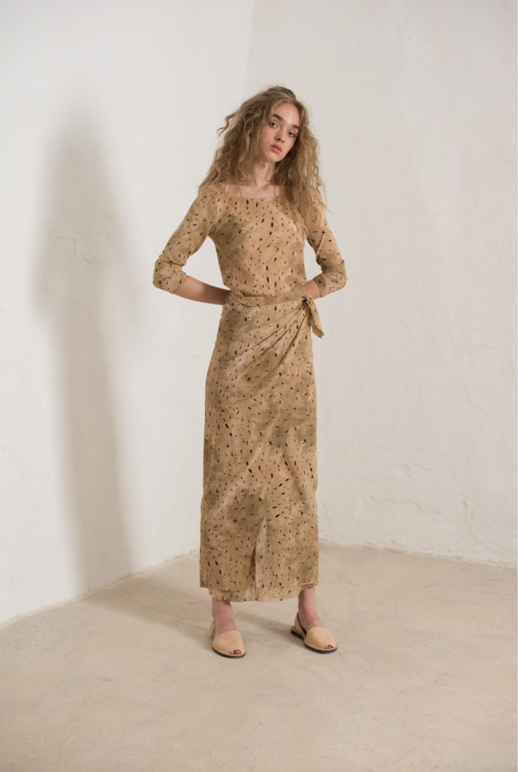 Siam, long printed dress