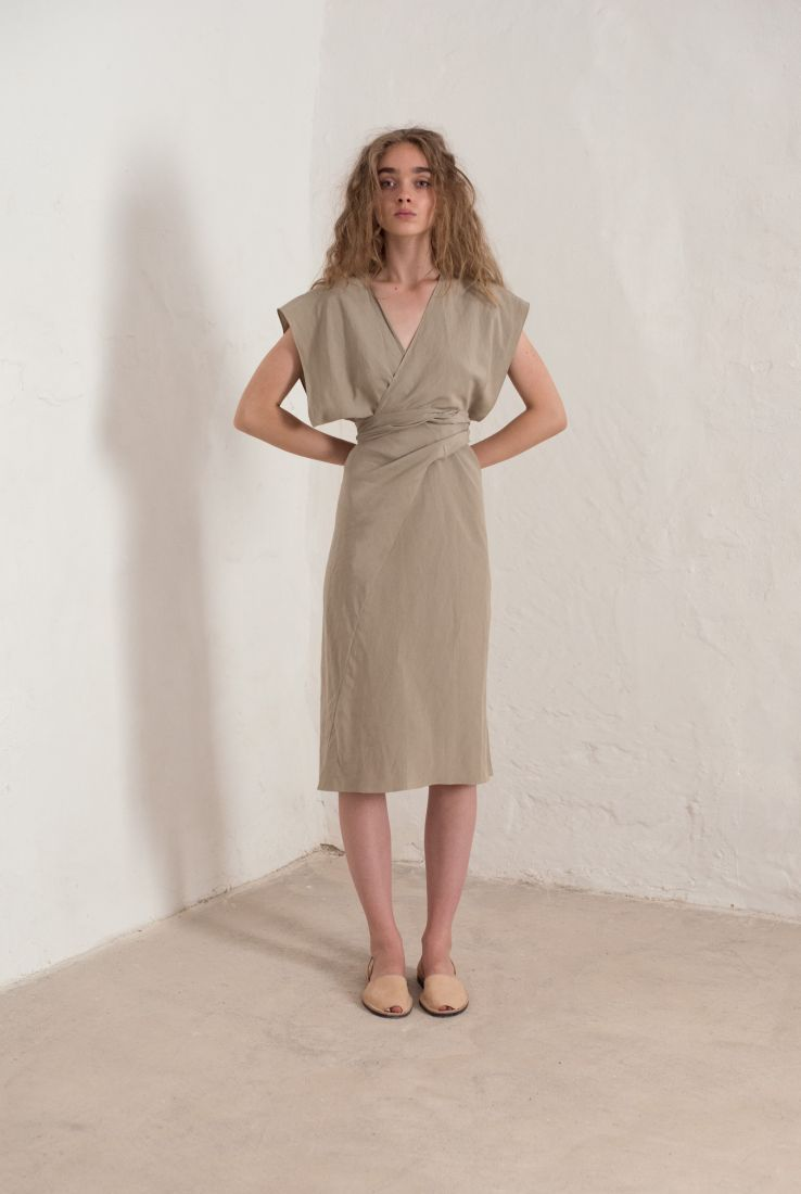 STONE WRAP DRESS, SS19 collection – Cortana Moda