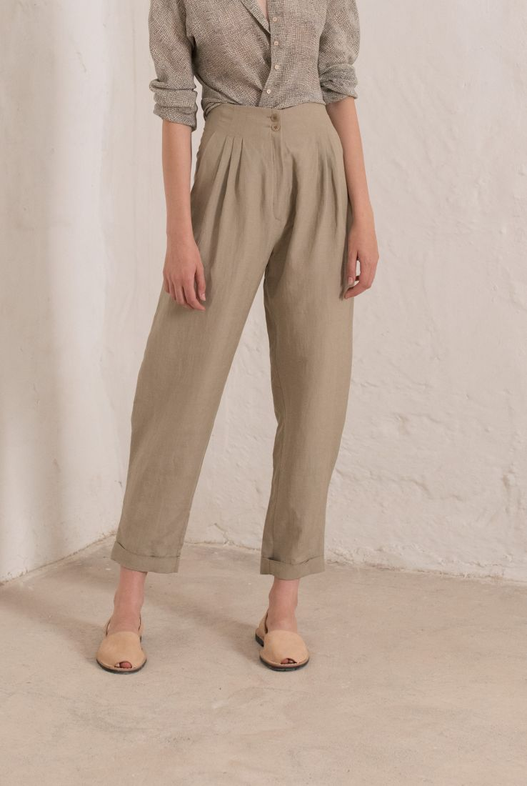 Stone high waisted pants