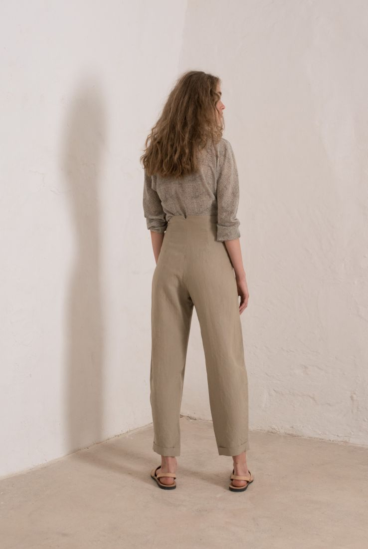 STONE HIGH WAISTED GREY PANTS, PANTS collection – Cortana Moda