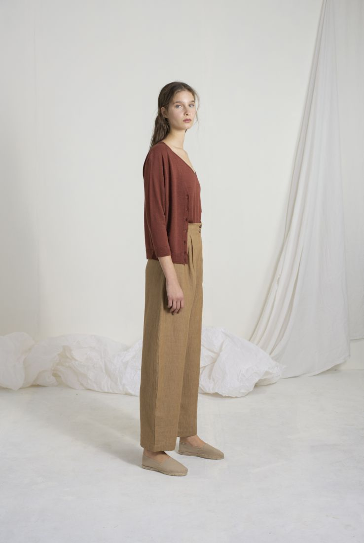 CHIA TOP AND JACKET WITH SACCO PANTS
