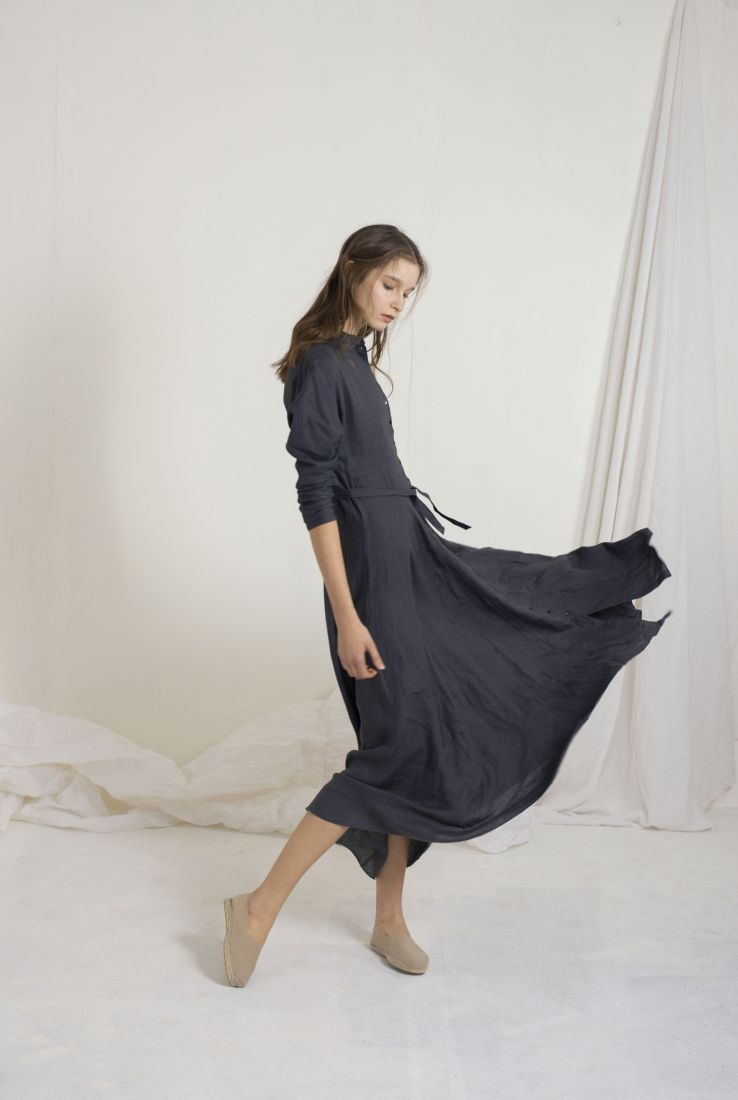 FINO LONG SHIRT DRESS BLUE, DRESSES collection – Cortana Moda
