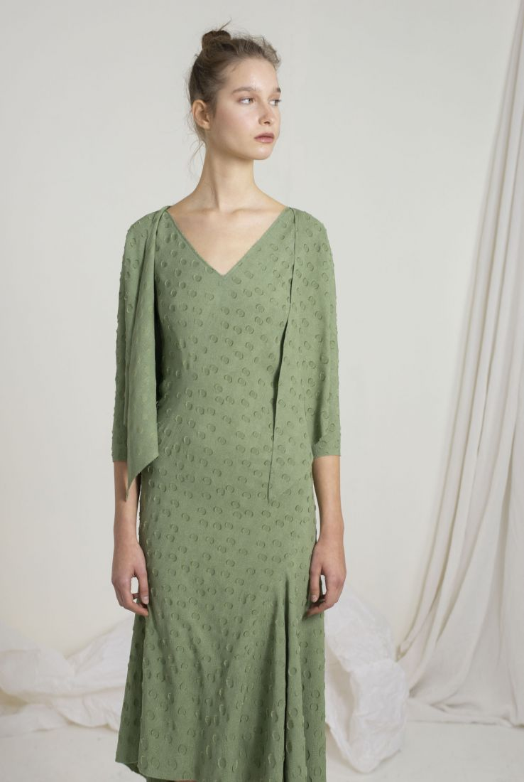 ROSARIO ASYMMETRICAL GREEN JACKET, SS19 collection – Cortana Moda