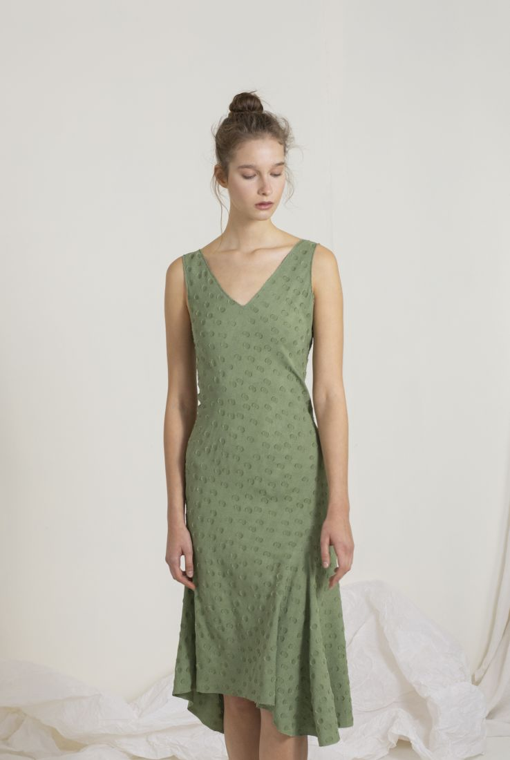 Rosario green short dress