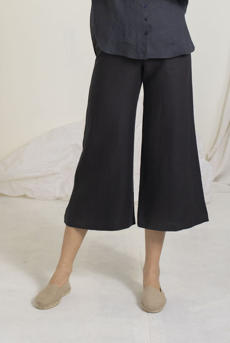 WIND, BLUE PALAZZO PANTS, PANTS collection – Cortana Moda