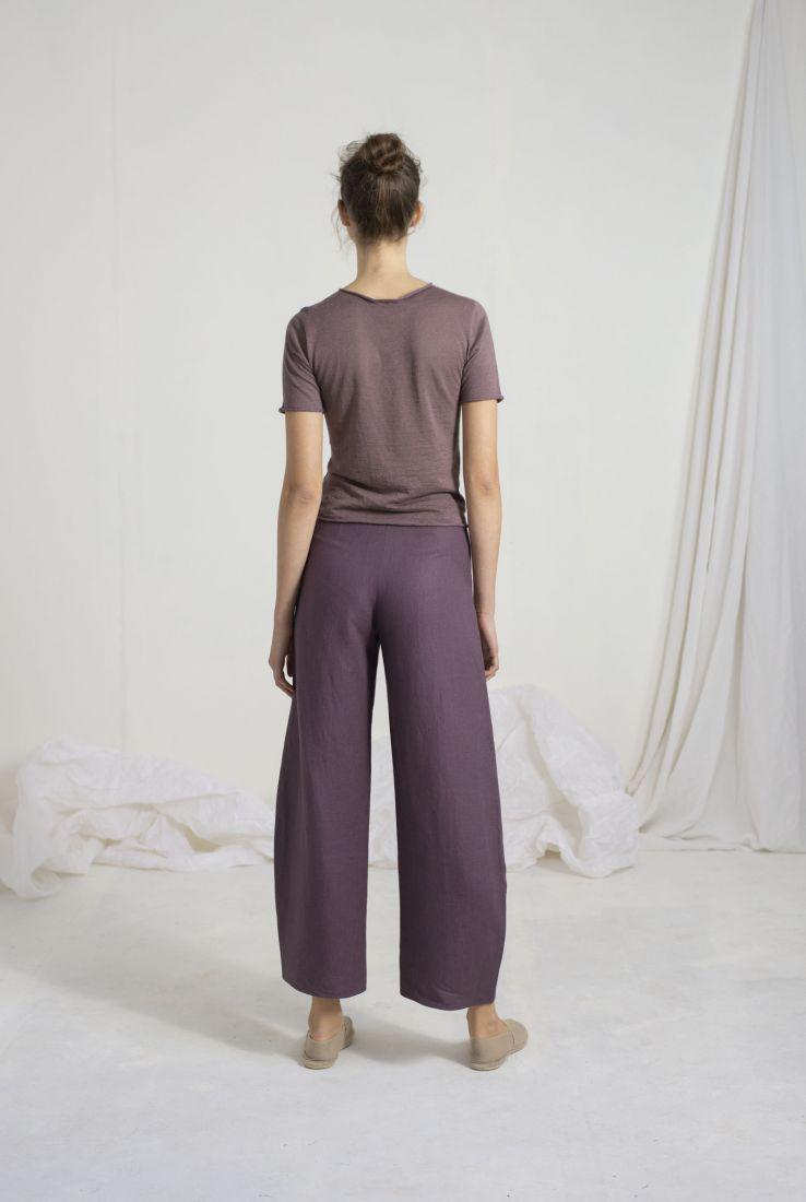 SOL GRAPE COLOURED PANTS, PANTS collection – Cortana Moda