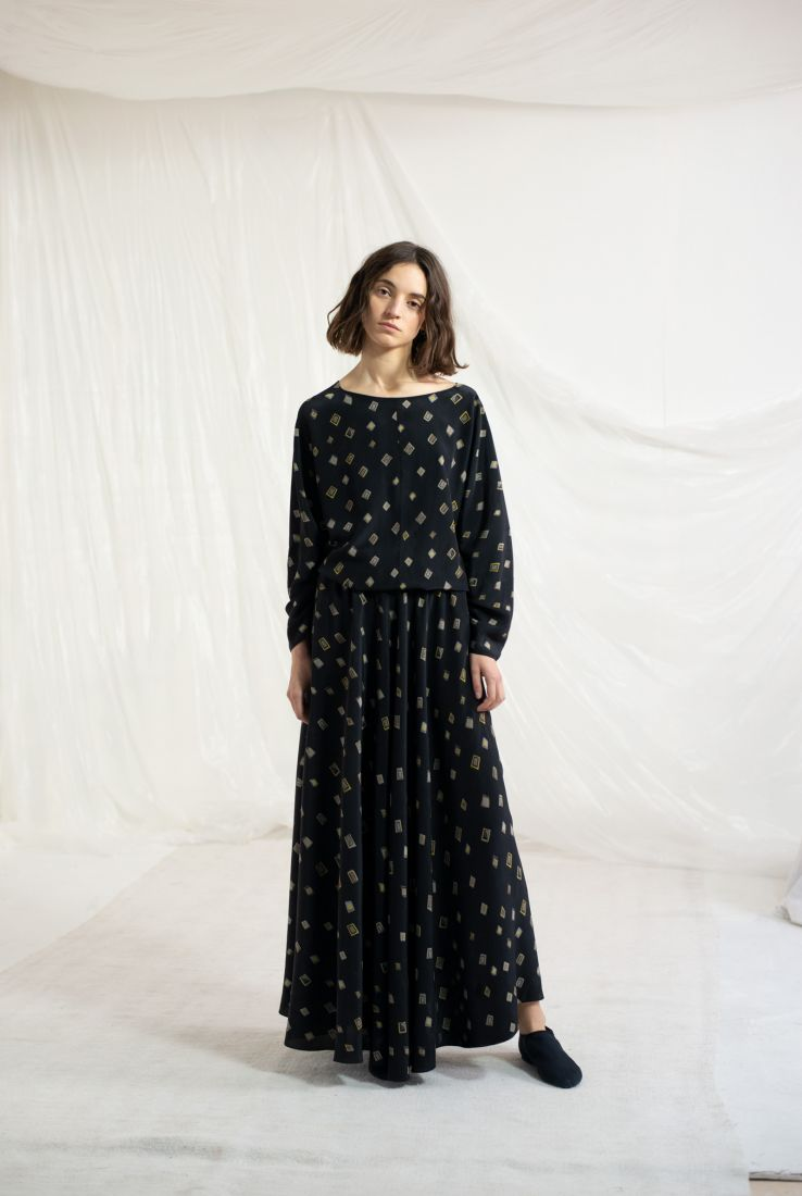 Astral, printed top and skirt