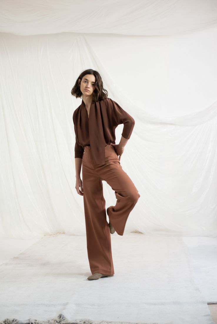 Cannes top with Dora flared pants