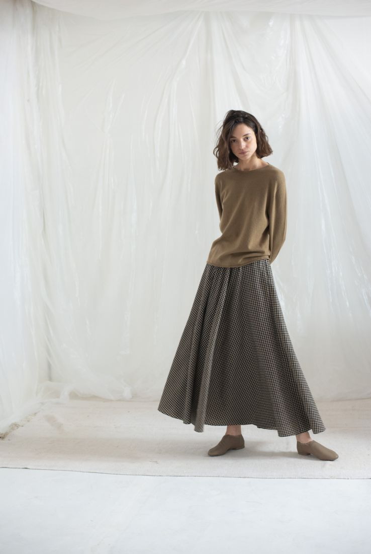 Naturale sweater with Spechio skirt