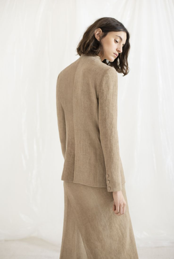DRAP, SAND LINEN JACKET, AW19 collection – Cortana Moda