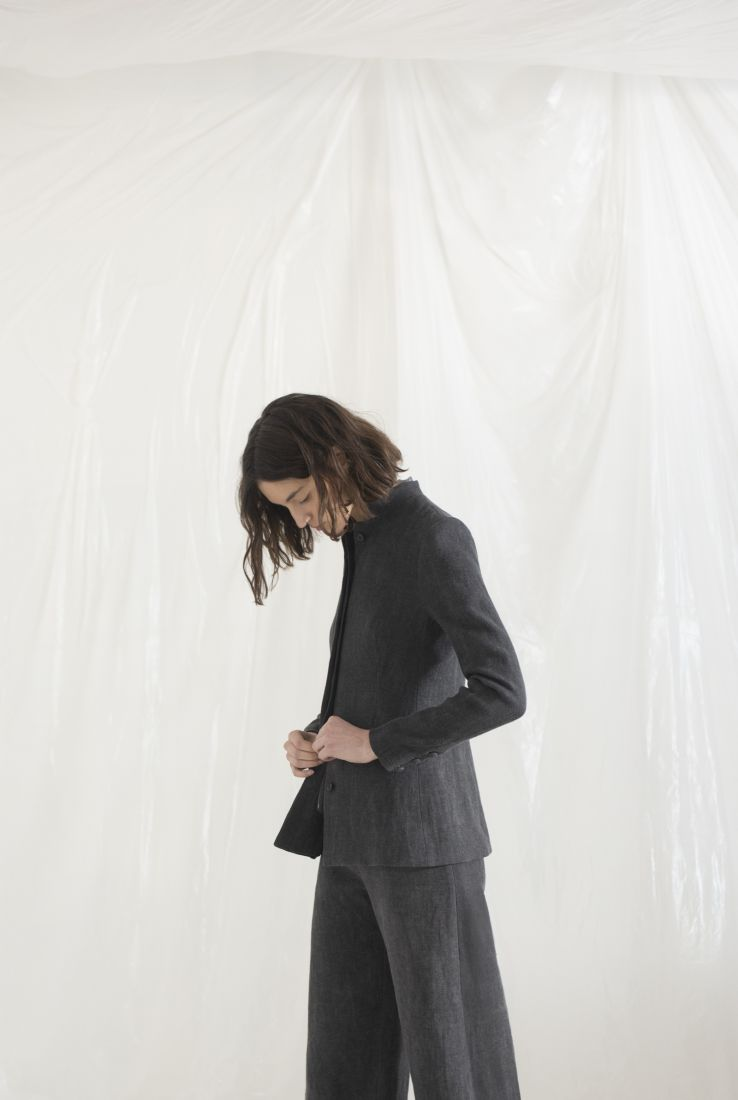 DRAP, SMOKE LINEN JACKET, AW19 collection – Cortana Moda