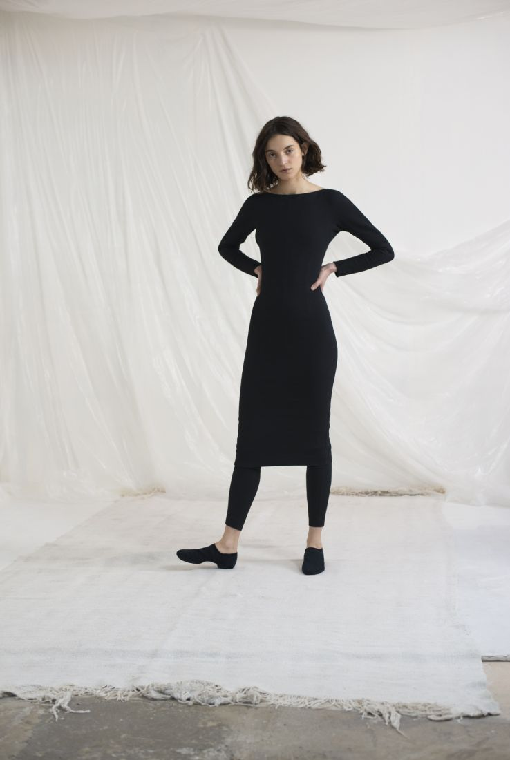 NOLA, BLACK FITTED DRESS, AW19 collection – Cortana Moda