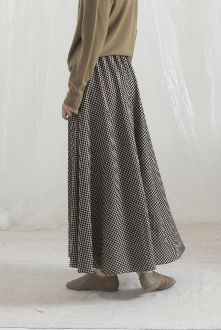 SPECHIO, CHECKED LONG SKIRT, AW19 collection – Cortana Moda