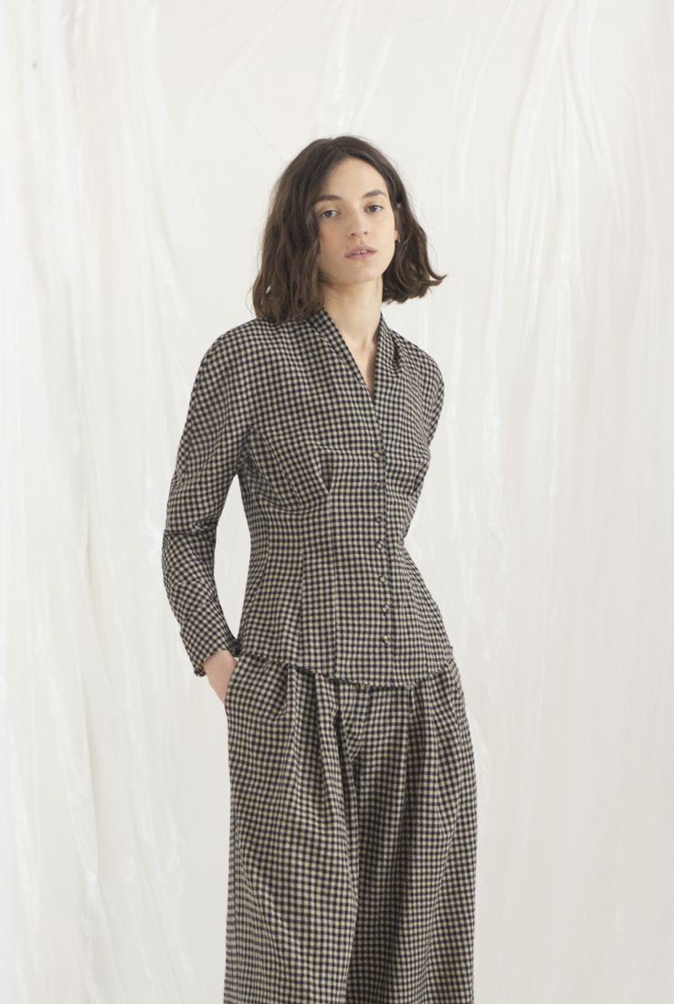 SPECHIO, CHECKED TOP, AW19 collection – Cortana Moda