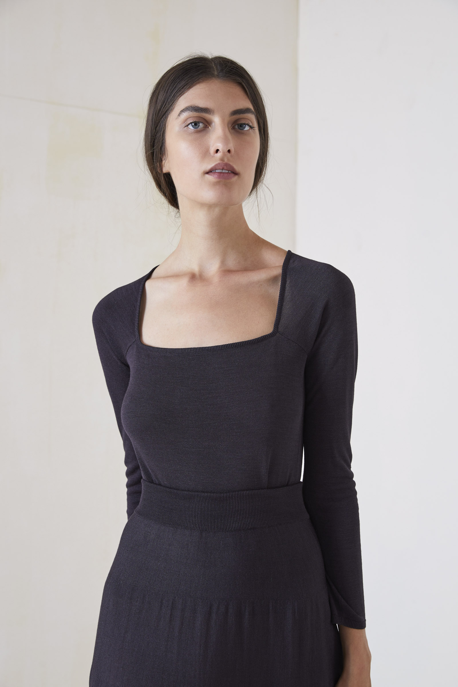 CHEST, SILK KNITWEAR TOP - Cortana