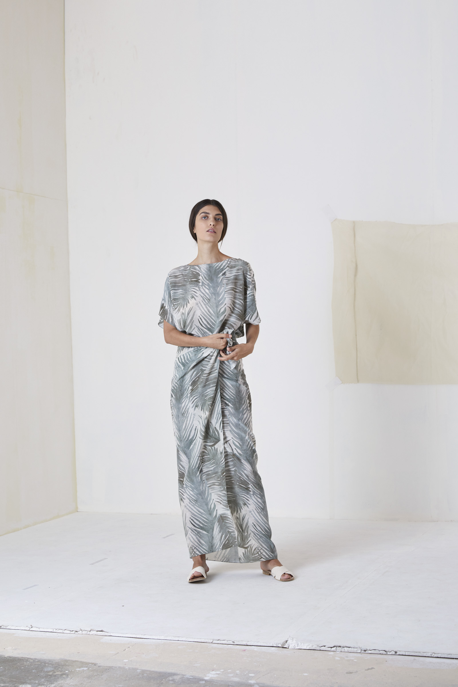 CUBA, LONG SILK DRESS - Cortana