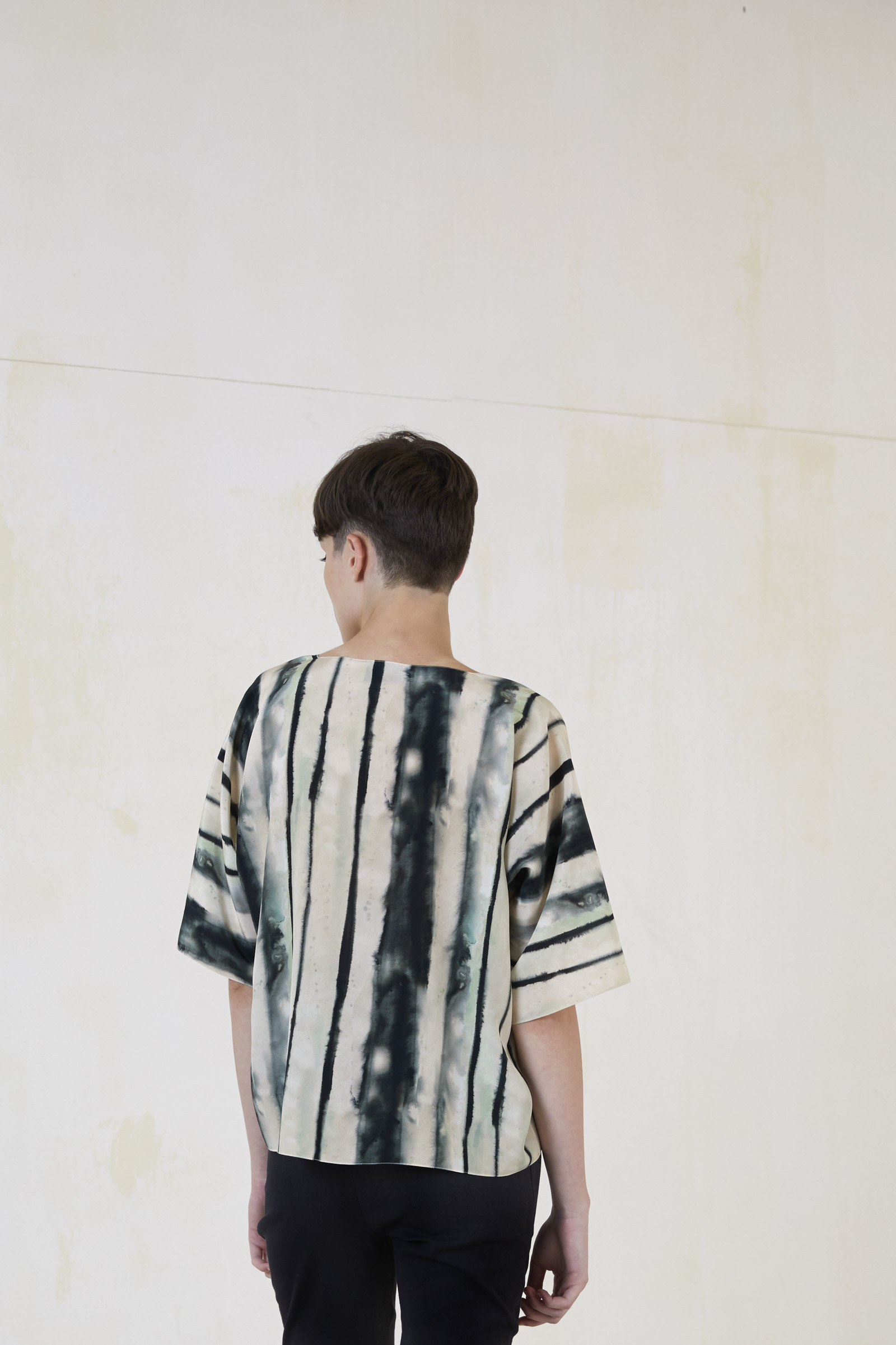 FLAG, PRINTED SILK TOP - Cortana