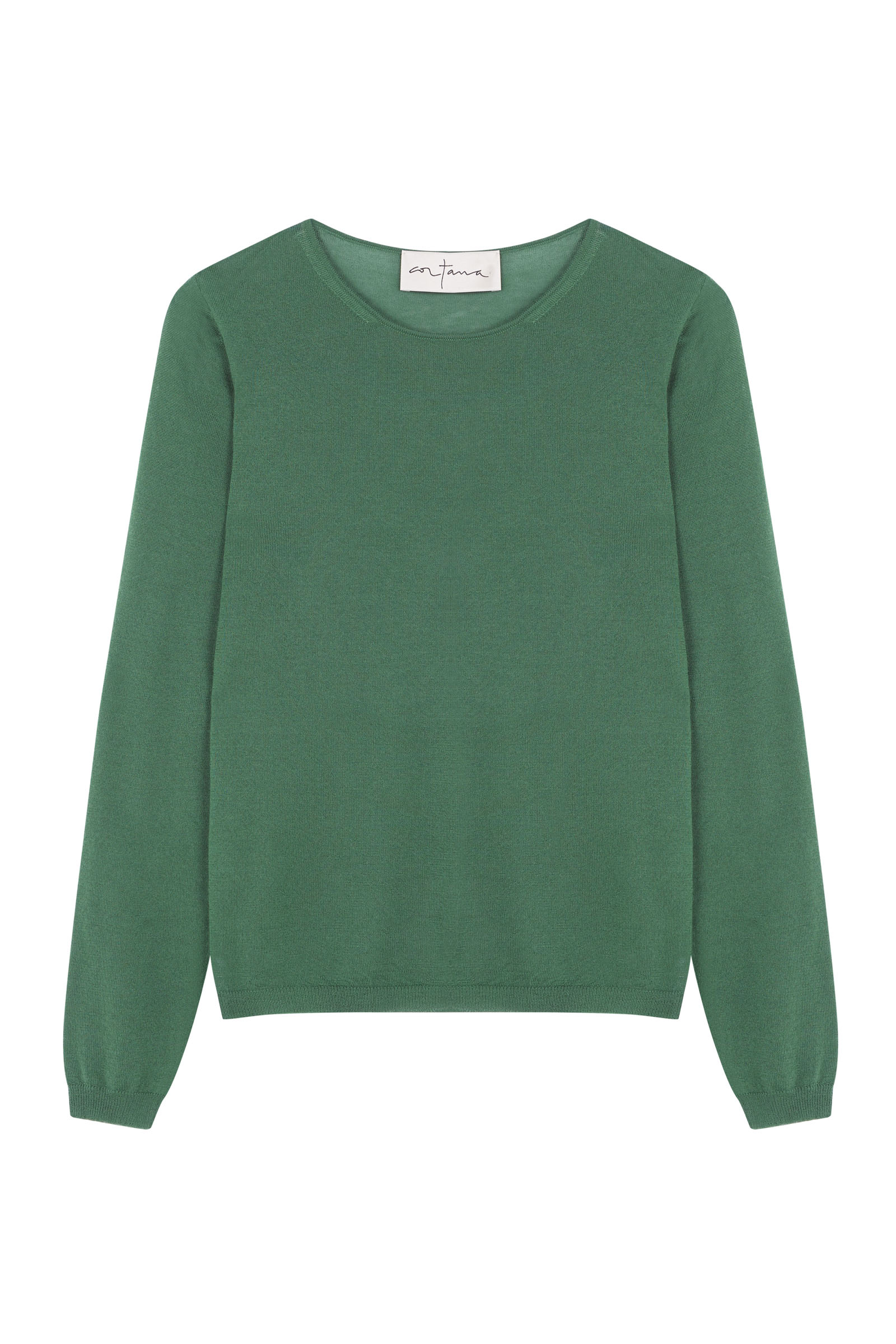 CRISTAL GREEN CASHMERE TOP - Cortana Moda